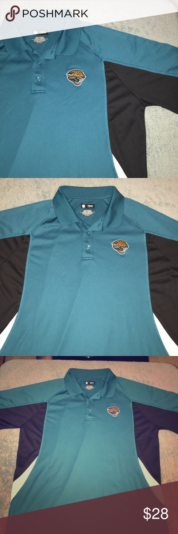 NWOT NFL Jacksonville Jaguars AFC Men's Polo For sale is a Size XL, NWOT NFL Jacksonville Jaguars AFC Men's Polo. 100% polyester, Teal in color and features Jaguars and AFC patches across left chest and sleeve. NFL Shirts Polos