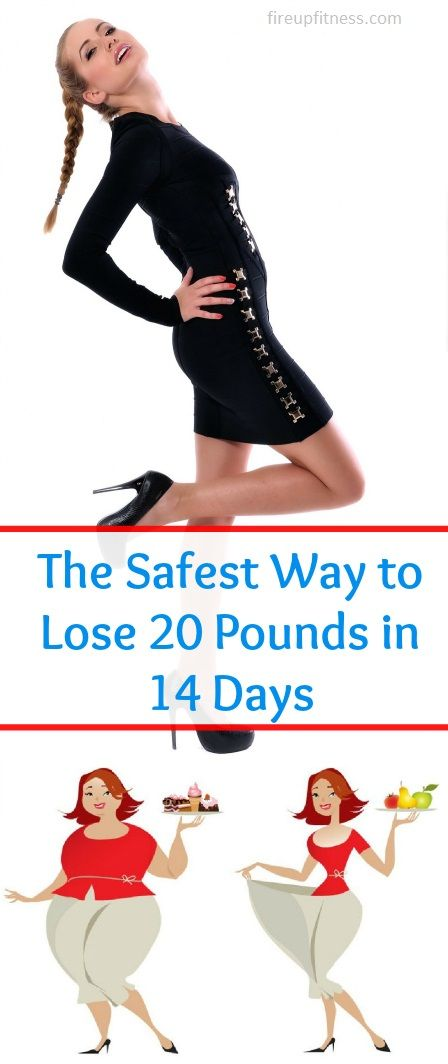 Safely Lose 20 Pounds In 14 Days. At my last Fitness Camp, i was asked if it is possible to lose 20 pounds in two weeks — not losing muscles while getting rid of weight from water, bloating and Fat? Yes it is possible to lose 20 pounds in 2 weeks but y