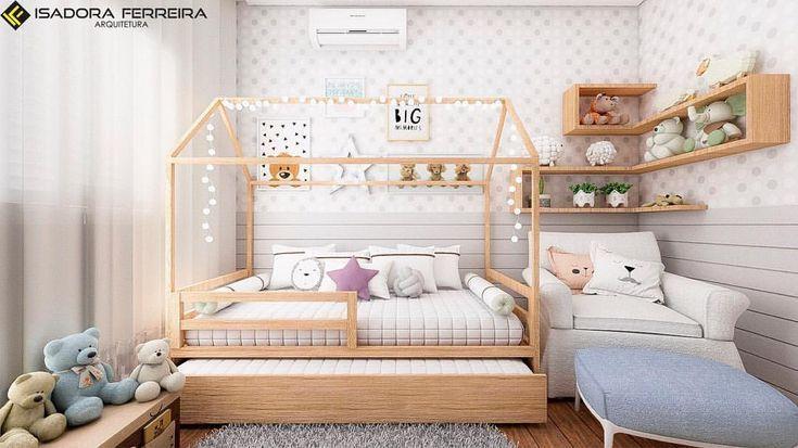Quarto de bebê montessoriano com cama de casinha …