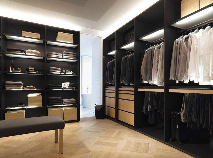 Best Классическая Мужская Гардеробная Black Wardrobe Closet 400 x 300