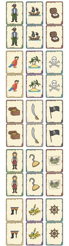 Twinkl Resources >> Pirate Themed Snap Cards >> Classroom printables for Pre-School, Kindergarten, Elementary School and beyond! Cards, Pirates, Activities, Games