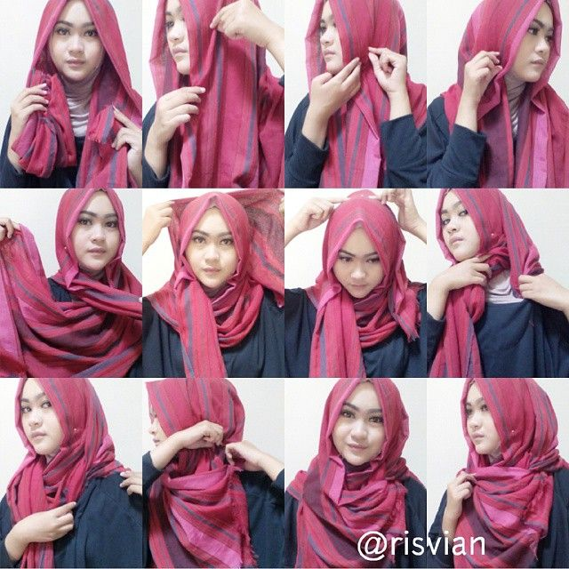 Check out this beautiful hijab tutorial using pashmina, it looks stylish and can be created in only few minutes, you can use any type of hijab but pashminas are the best for this style to get the point on the…