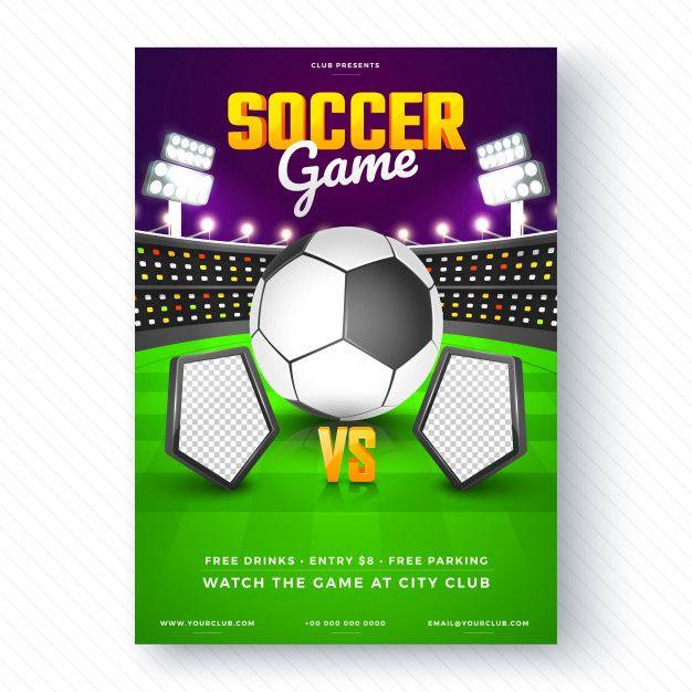 Flyer De Jogo De Futebol Ou Design De Cartaz Jogos De Futebol Design De Cartaz Cartazes De Jogos