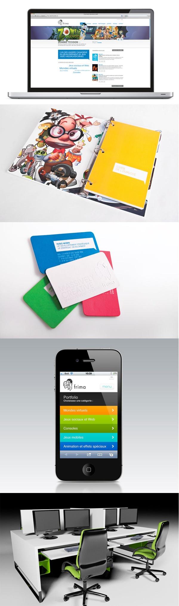 Client : Frima Studio - Campagne institutionnelle, design graphique, image de marque, outils corporatifs, design industriel, site Web, design d'espace.