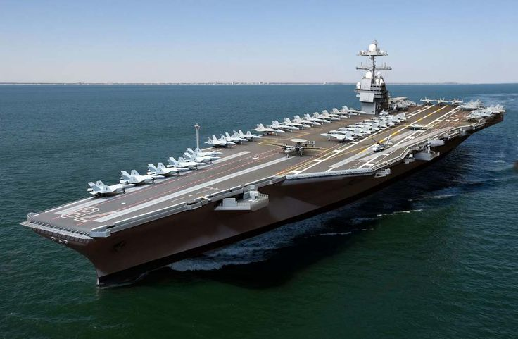 """USS Gerald Ford—the """"Floating city,"""" the first unit of America's new aircraft carrier class. Built at Newport News Shipbuilding by the world's best"""