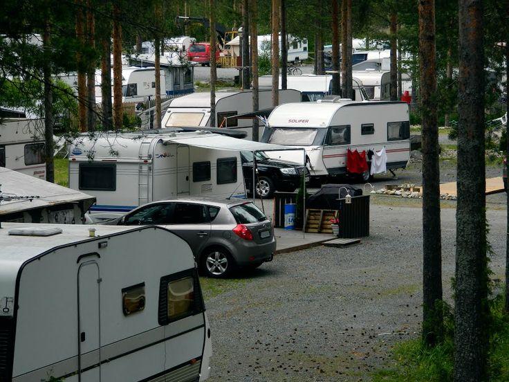 Caravan camping Kalajärvi Peräseinäjoki, South Ostrobothnia province of Western Finland. - Etelä-Pohjanmaa,