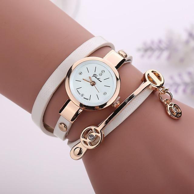 Women Bracelet Watch Quartz Watch Gift Wristwatch Women Dress Leather Casual Bracelet Watches #Womenbracelets