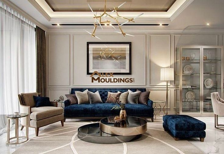 Absolutely Gorgeous Interior Design With Cove Lighting Throughout The House And Elegant Wall Living Room Design Decor Luxury Living Room Living Room Designs