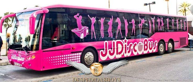 transporte bus discobus con música, fiesta, animacion para despedidas de solteros en Malaga.