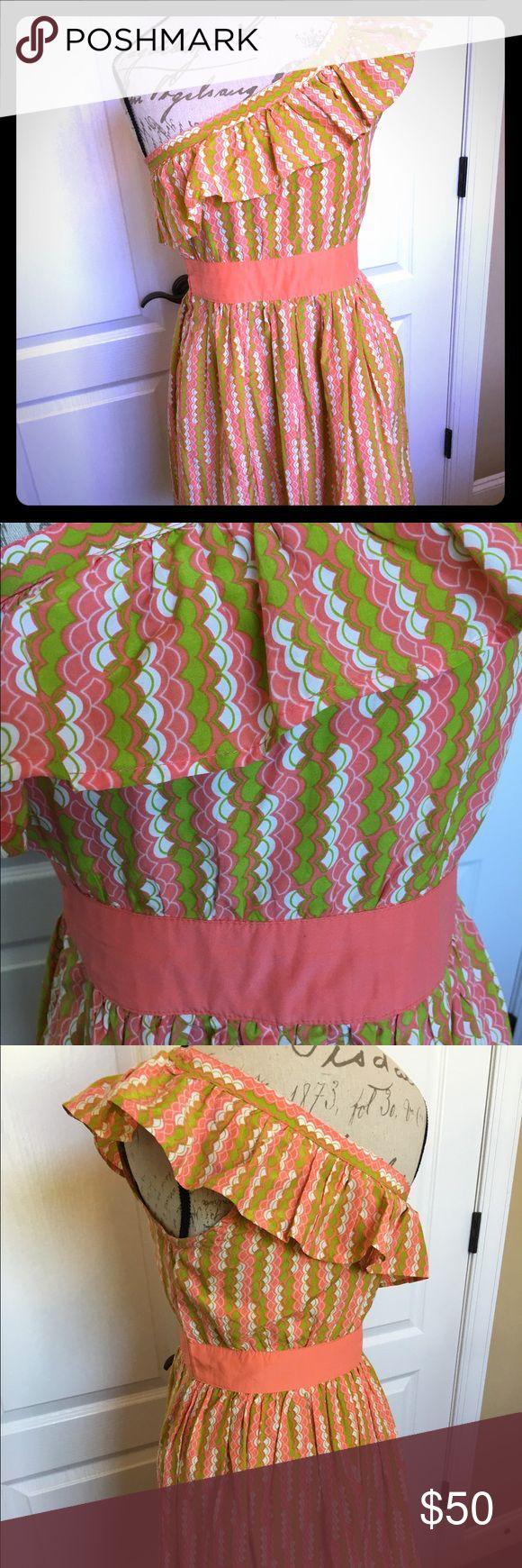 Off shoulder pink and green dress Tulle dress from Nordstrom's off shoulder pink & green perfect for summer. Tulle Dresses Midi