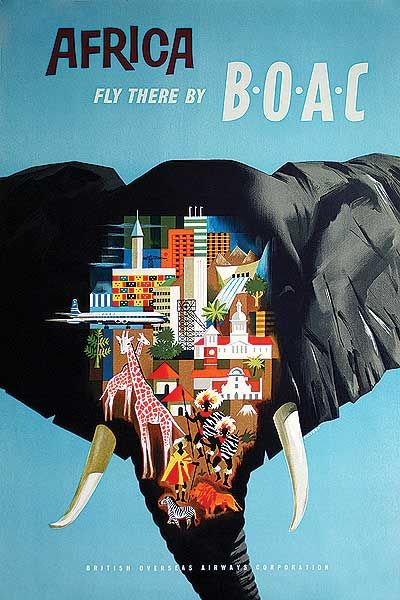 Africa • BOAC #travel #poster (1960s)