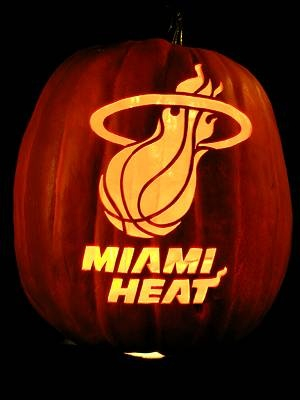 Miami Heat Jack-O-Lantern
