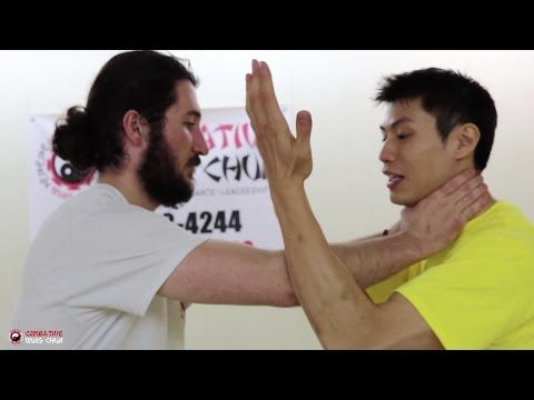 Wing Chun DUMMY Training Techniques - How to Self Defense Against a Push - YouTube