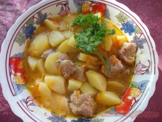 Тушёная картошка с мясом on http://kulinarniyclub.ru