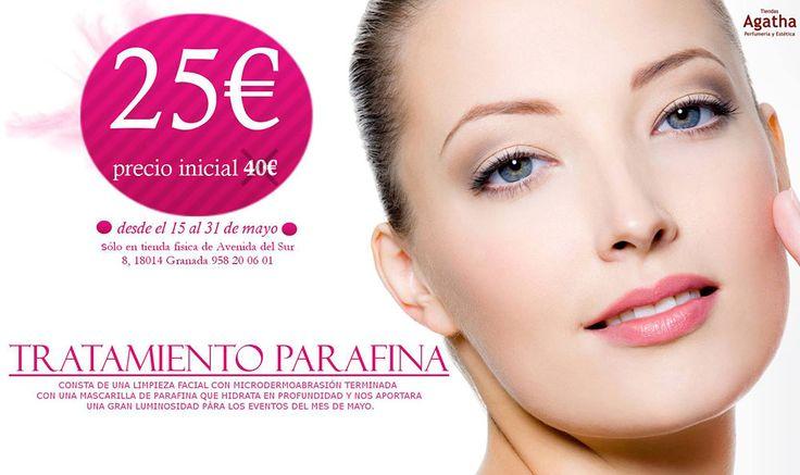 ¿Quiéres tener una piel luminosa y radiante? Pues ahora es tu oportunidad y probar nuestro tratamiento de Parafina con un precio increíble de 25€. En exclusiva en nuestra tienda de Avda. del Sur 8 hasta el 31/05/2016.