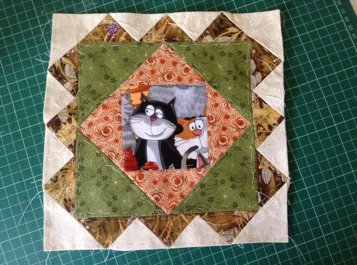 "9"" English Paper Pieced (EPP) Rug Mat . May 2016"