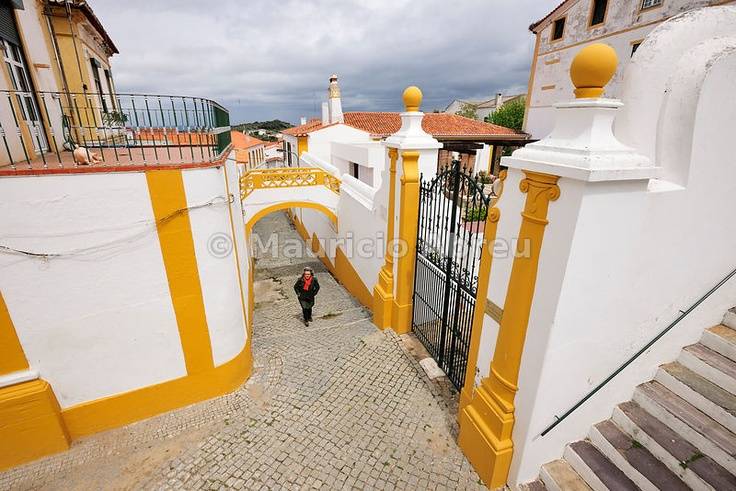 Traditional architecture of Barrancos. Alentejo, Portugal