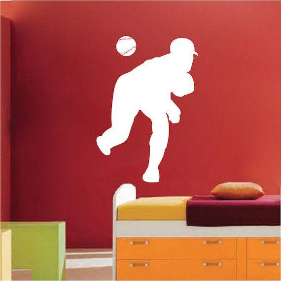 Baseball lanceur Wall Art Sticker par TrendyWallDesigns sur Etsy