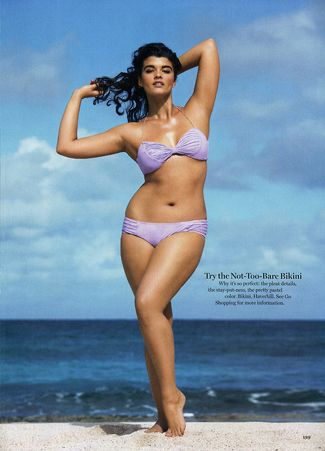 "Now, a goal I can work on. Gotta love ""plus size"" models."
