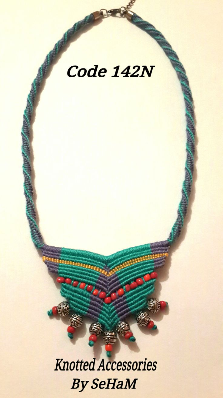 Macrame Necklace https://www.facebook.com/Knotted-Accessories-680737142059368/timeline/