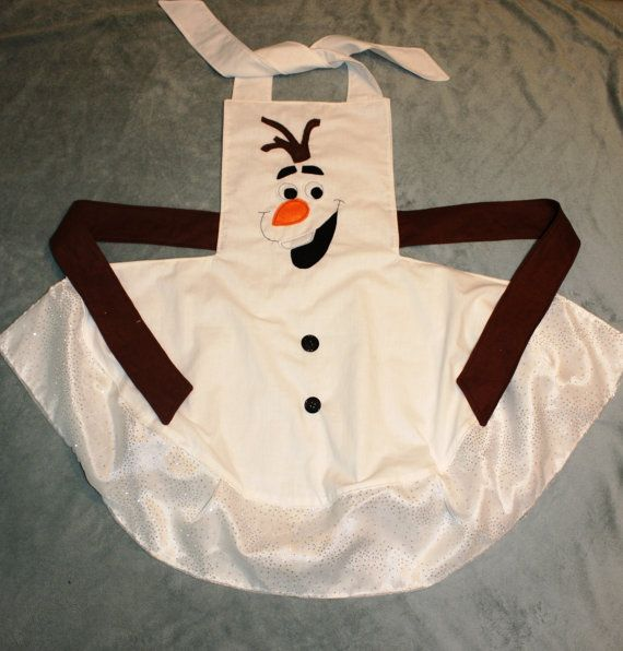Olaf Inspired Dress Up Apron