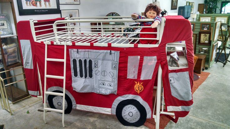 Fire truck tent bunk bed set home decor and - Ikea fire truck bed ...