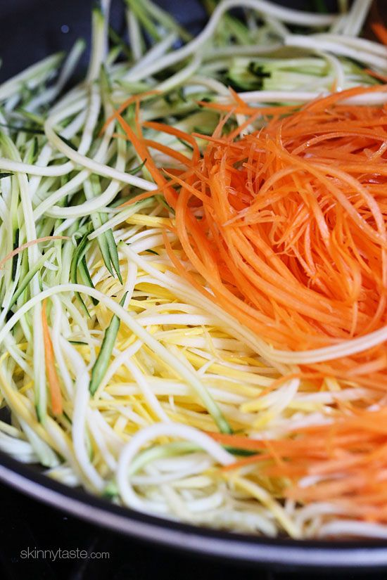 Sauteed Julienned Summer Vegetables | Skinnytaste                                                                                                                                                      More