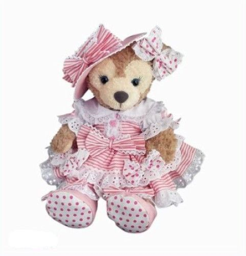 Shellie may Handmade Costume hat & Drawers with ribbon stripe dress pink