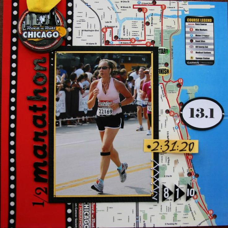 half marathon memory frameprovided by Life Memories