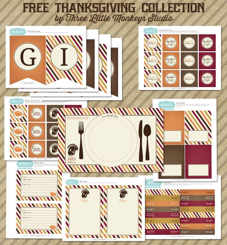 Thanksgiving Free Printables Crafts