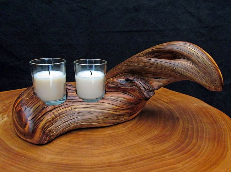 Images about twisted juniper wood candle holders on