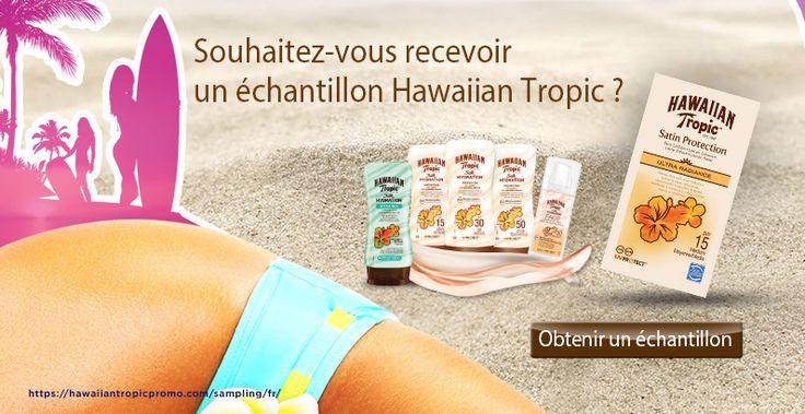 Échantillons de crème solaire Hawaiian Tropic