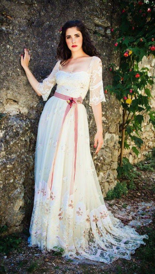 russian style wedding dress by lena hoschek a fashion designer from vienna austria