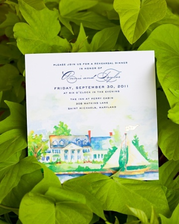 This invitation was inspired by an inn on the Eastern Shore in Maryland