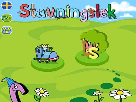 Stavningslek lär ut stavning av mer än 300 substantiv. i varierande svårighetsgrader. Här tränar barnen att skriva ord på ett lekfullt och roligt sätt.