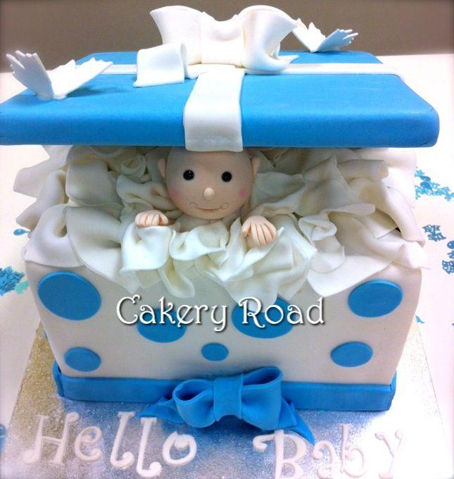 Peek a Boo Baby Shower Cake Box