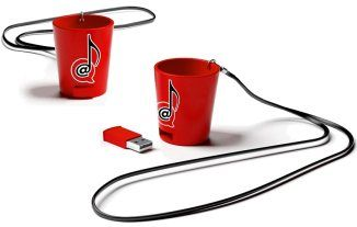 This is a shot glass with a removable USB that comes loaded with a Power Hour Album of 60 one-minute drinking songs. Use the music to play a power hour drinking game! Just plug in the USB to play the songs, copy them to your computer, put them on an MP3 player.