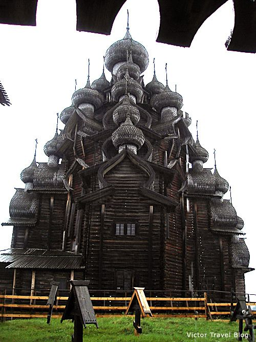 Kizhi Island. Russia. The wooden churche built without a single nail 300 years ago.