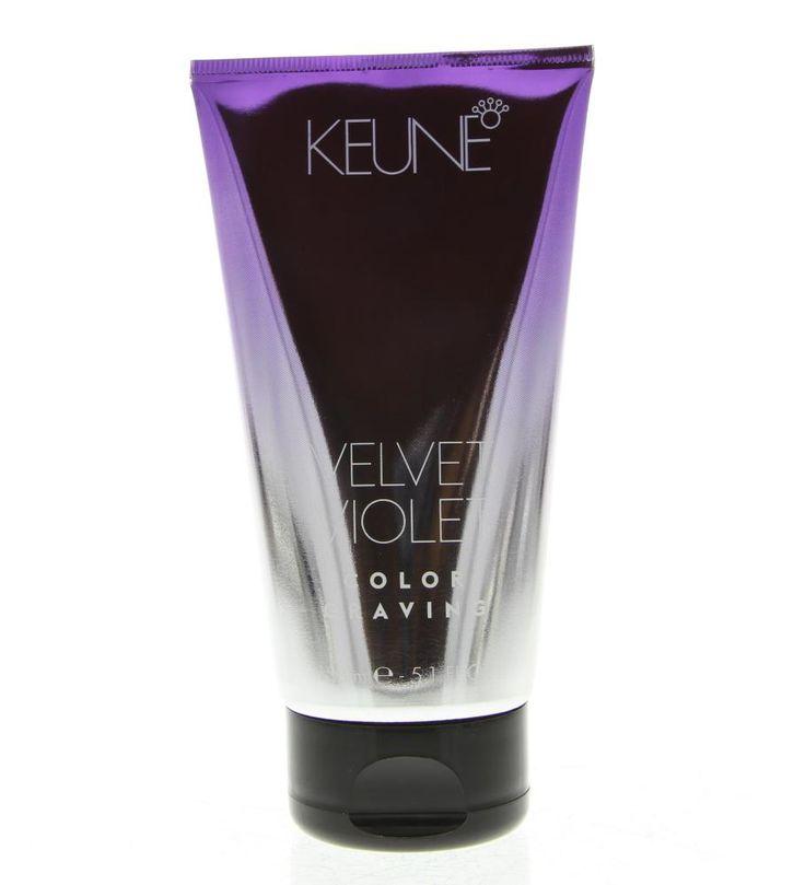 Keune Color Craving Velvet Violet Haarkleuring 150ml  Description: Keune Color Craving Velvet Violet.Deze haarkleuring is niet permanent en kan gebruikt worden op geblondeerd of licht blond haar.Gebruik: Aanbrengen op op handdoekdroog haar. 15 minuten laten inwerken en goed uitspoelen. Niet na wassen.  Price: 19.55  Meer informatie