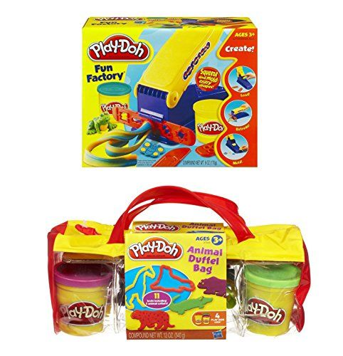 Play-Doh Animal Duffel Bag (Assorted Colors) and Play-Doh Fun Factory (Bundle) @ niftywarehouse.com