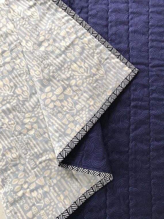 Modern baby quilt nautical baby quilt nautical blanket baby