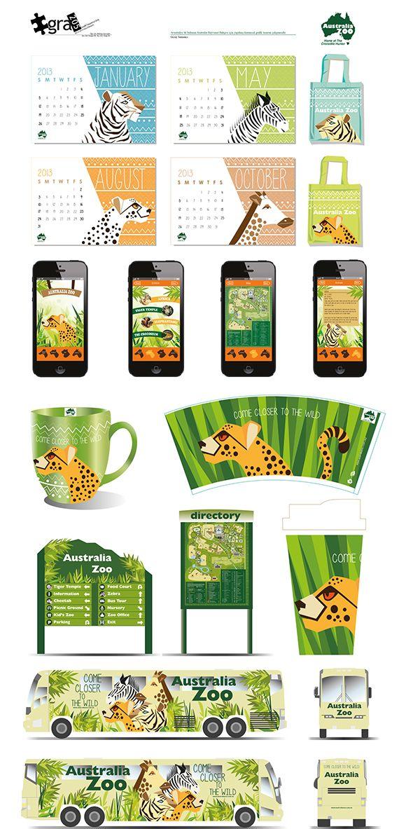 Australia Zoo (imaginary) - Branding Design on Behance
