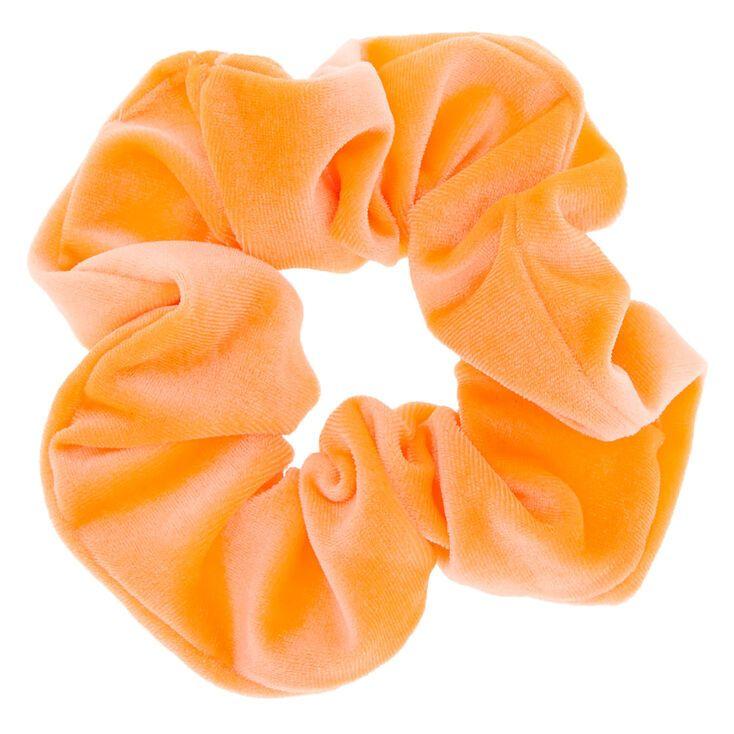 Hair Elastic. Large Neon Peachy Pink Hair Scrunchie Hair Bobble