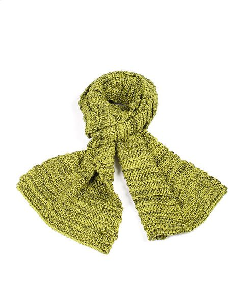Chunky Knit Scarf - green/black | Krinkle