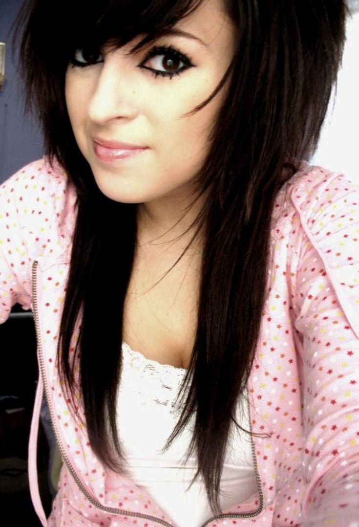 long length emo hairstyles for emo girls long length emo