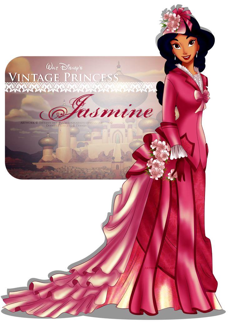 Vintage Princess -Jasmine by selinmarsou.deviantart.com on @deviantART