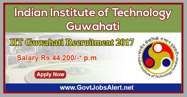 """IIT Guwahati Recruitment 2017 - Hiring System Administrator, Technical Assistants and Office Assistant Posts, Salary Rs.44,200/- : Apply Now !!!  The Indian Institute of Technology Guwahati – IIT Guwahati Recruitment 2017 has released an official employment notification inviting interested and eligible candidates to apply for the positions of System Administrator, Technical Assistants and Office Assistant under IIT Guwahati project entitled, """"Scheme for financial assistan"""