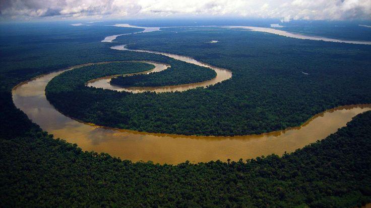 Meandering River Tigre, Peruvian Amazon - http://www.fullhdwpp.com/nature/landscapes/meandering-river-tigre-peruvian-amazon/