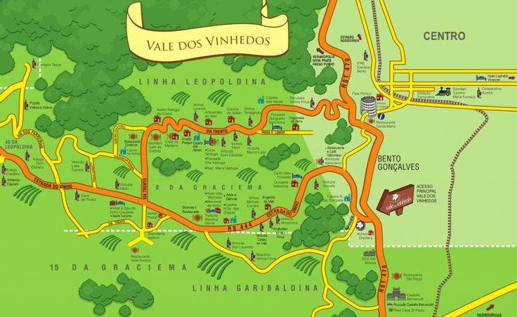 mapa vale vinhedos Vinícolas no Vale dos Vinhedos: quantas e quais visitar?