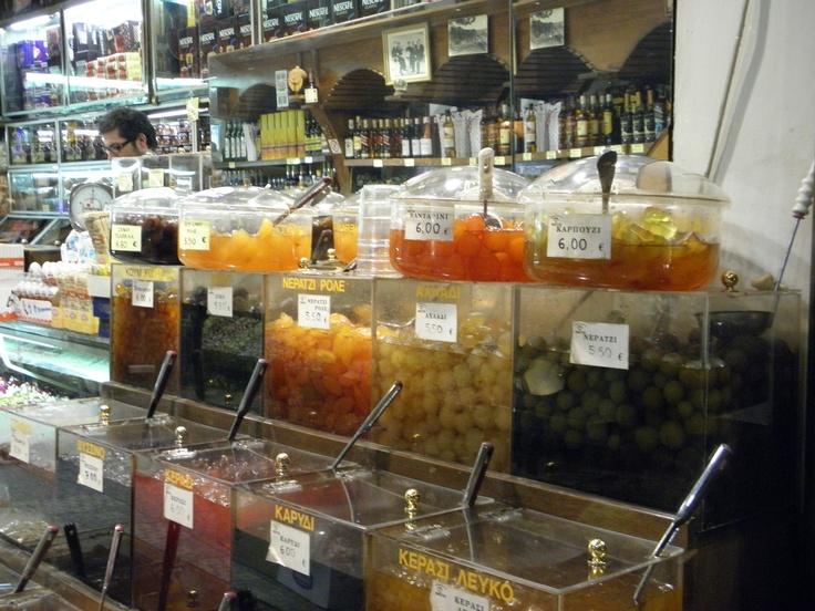 Glyka Koutaliou - Food Market at Trikala Greece